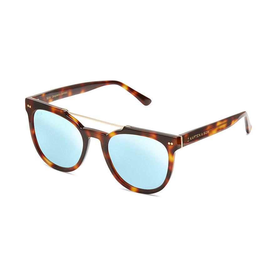 Kapten & Son Sonnenbrille Nice Gloss Tortoise Blue Mirrored KS09-TG-BM