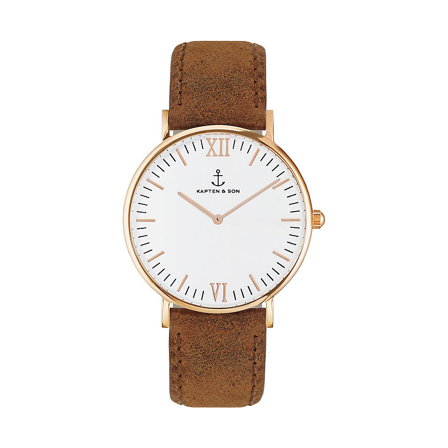 kapten-son-uhr-campus-white-rg-brown-vintage
