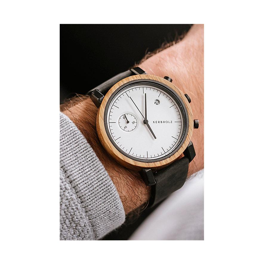Kerbholz Chronograph Franz Oak Midnight Black WATWFRA0111