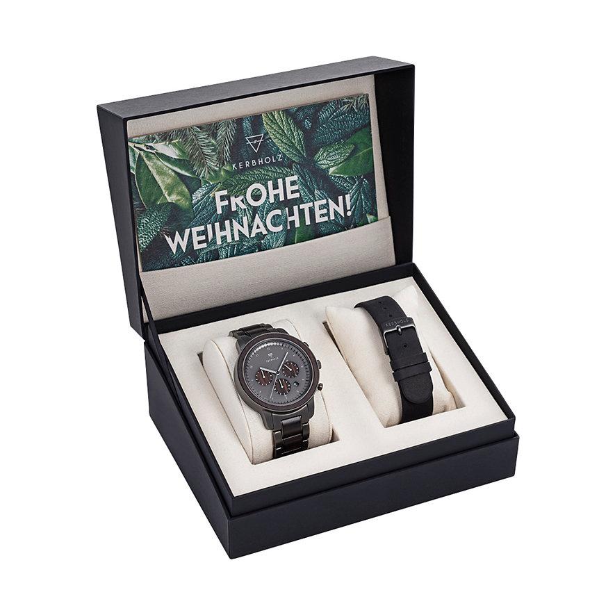 Kerbholz Chronograph Maximilian Black Sandalwood WATWMAX3150