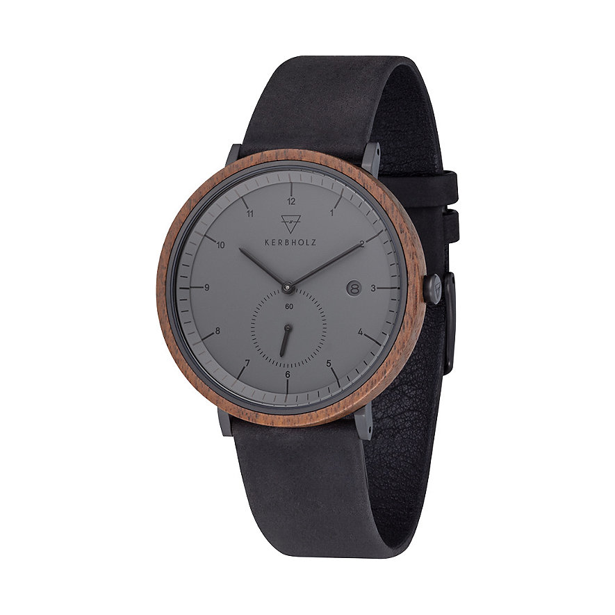 Kerbholz Herrenuhr Anton Walnut Midnight Black WATWANT9306