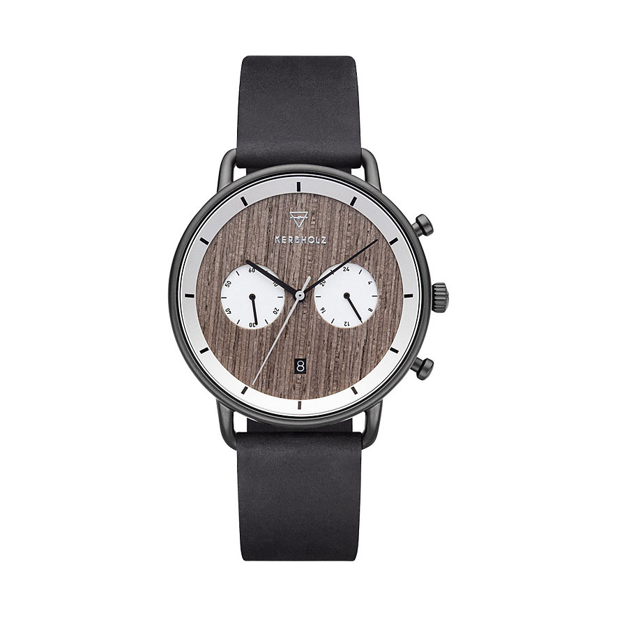 Kerbholz Herrenuhr Herbert Greywood Black Midnight WATMHER2542
