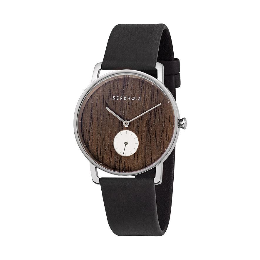 Kerbholz Uhr Frida Walnuss Nachtschwarz WATWFRI4172