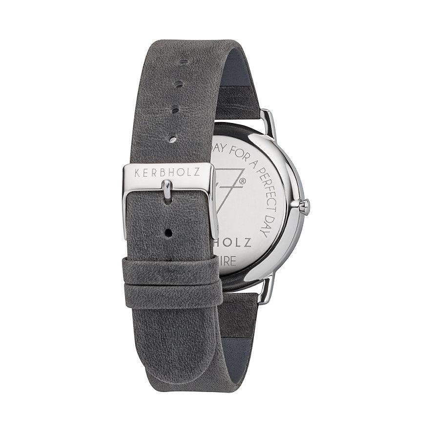 Kerbholz Uhr Fritz Weißer Marmor Asphaltgrau WATMFRI4257