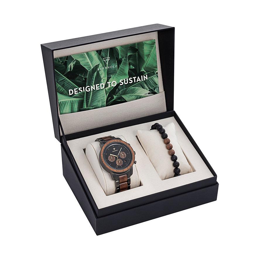 Kerbholz Uhren-Set Maximilian Walnuss XMAS-MAL5