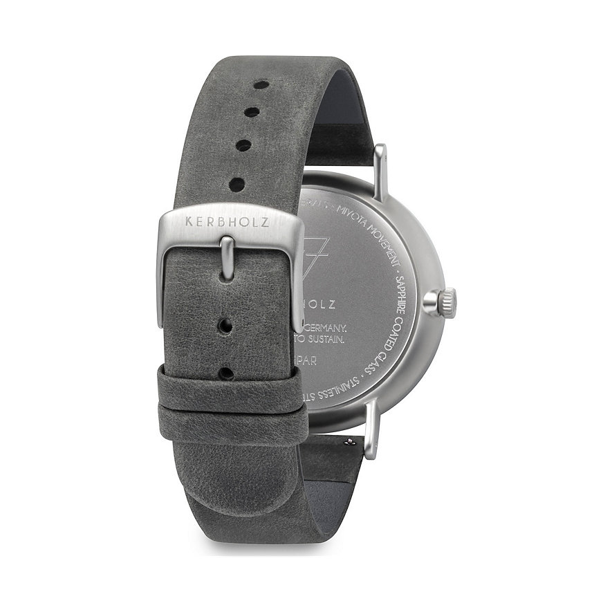 Kerbholz Unisexuhr Caspar Walnut Shiny Grey WATMCAS1743