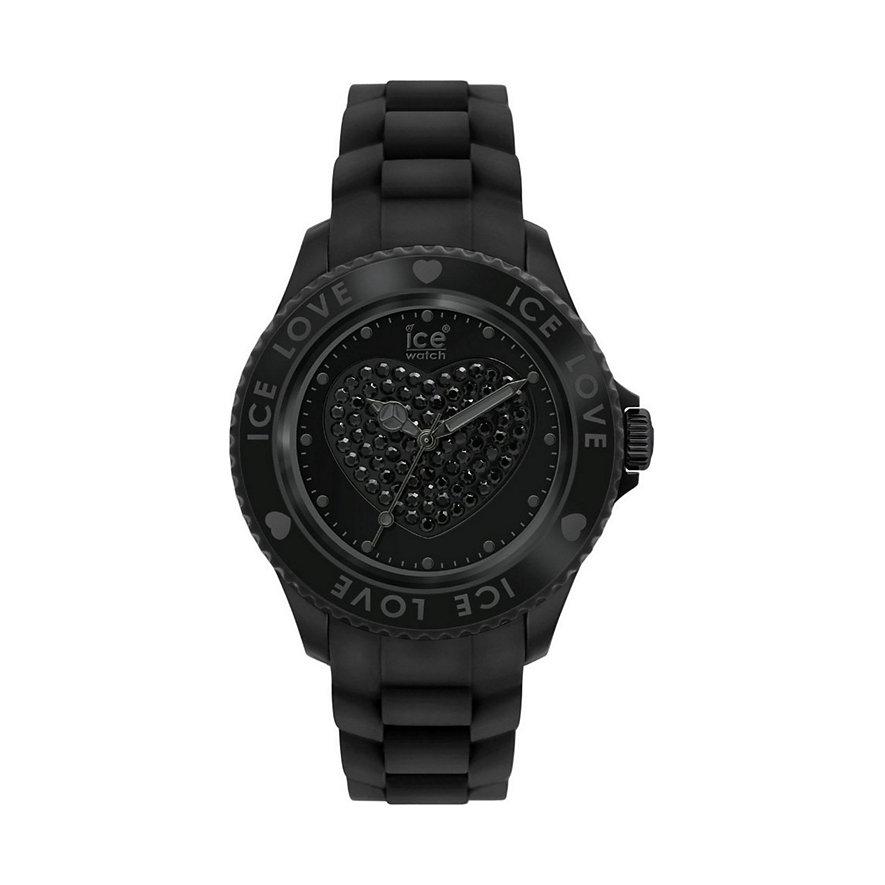LO.BK.U.S.10 Damenuhr Ice Love Black Unisex