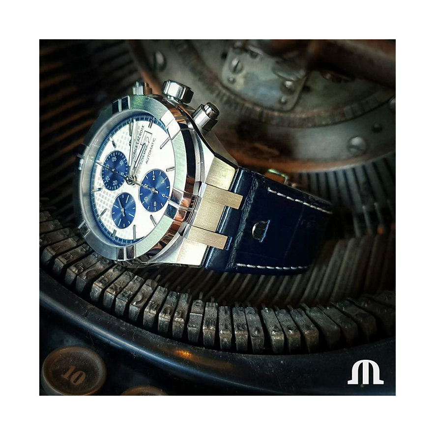 Maurice Lacroix Herrenuhr Aikon Chronograph Day Date AI6038-SS001-131-1