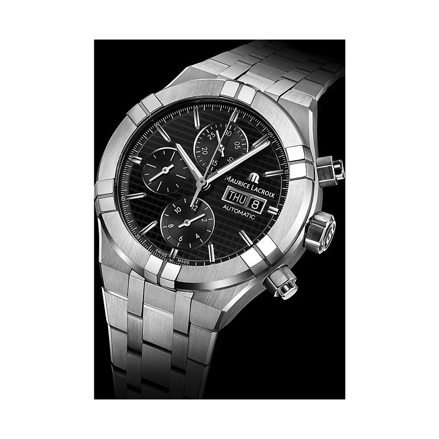 Maurice Lacroix Herrenuhr Aikon Chronograph Day Date AI6038-SS002-330-1