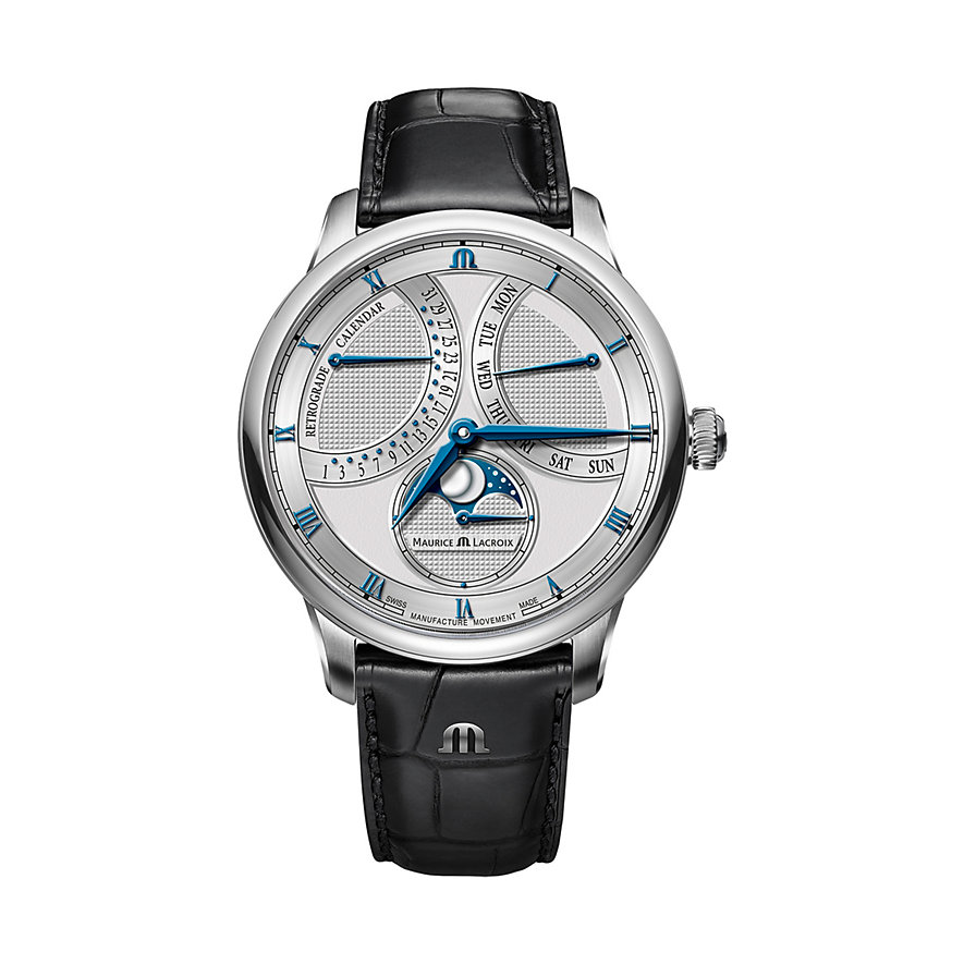 Maurice Lacroix Herrenuhr Masterpiece Moon Retrograde MP6608-SS001-110-1