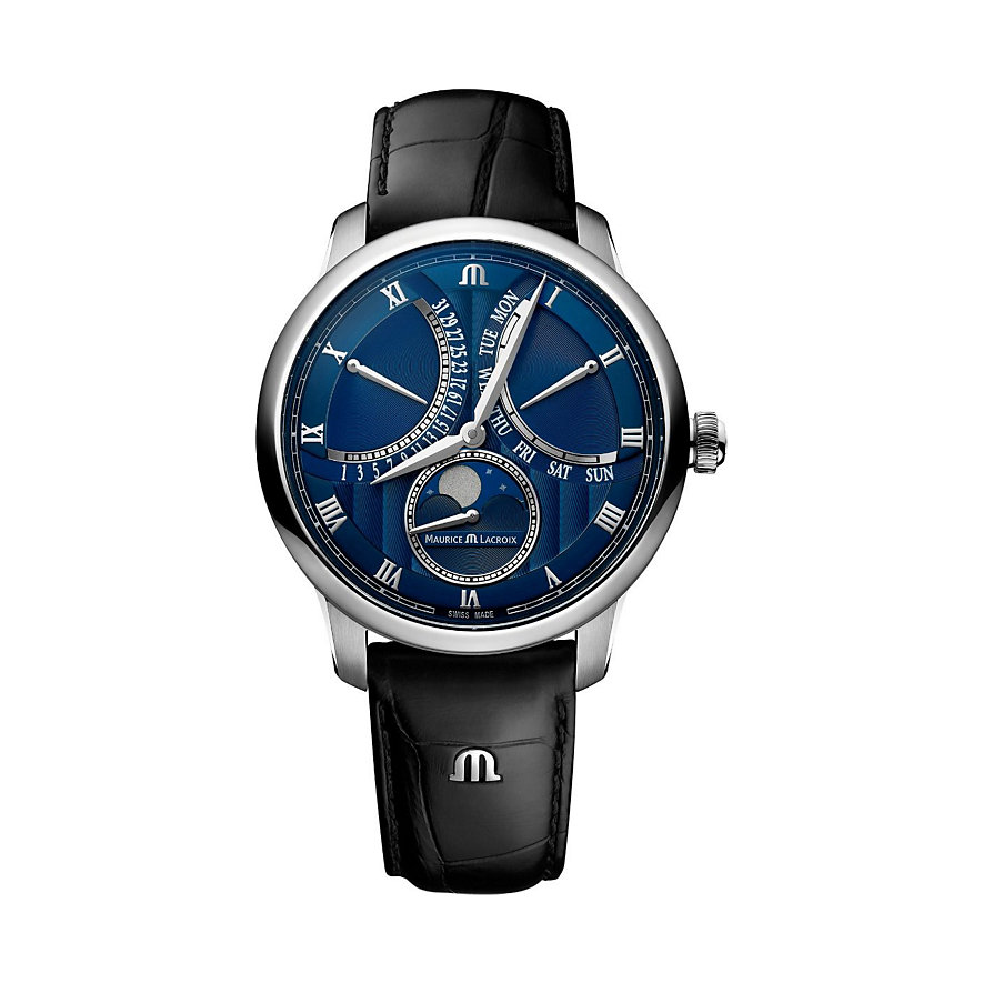 Maurice Lacroix Herrenuhr Masterpiece Moon Retrograde MP6608-SS001-410-1