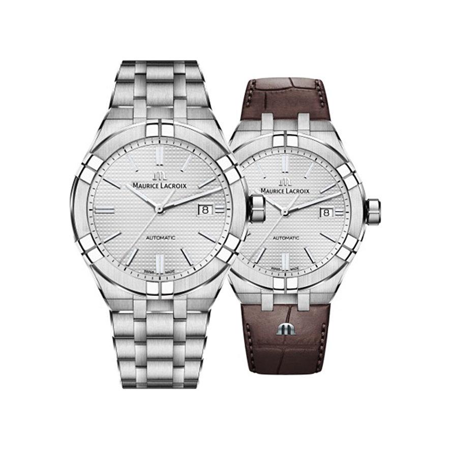 Maurice Lacroix Uhren-Set Aikon Date AI6008-SS002-130-2