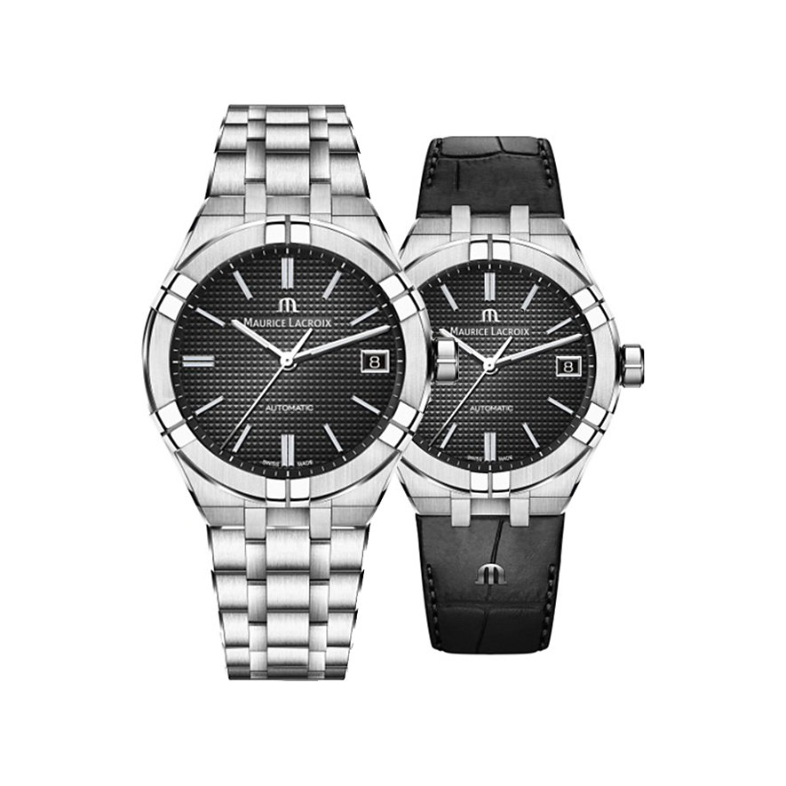 Maurice Lacroix Uhren-Set Aikon Date AI6008-SS002-330-2