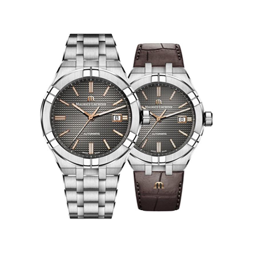 Maurice Lacroix Uhren-Set Aikon Date AI6008-SS002-331-2
