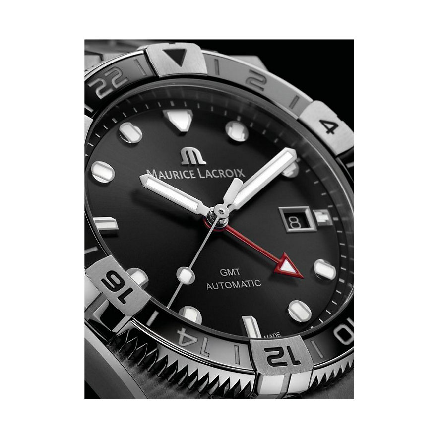 Maurice Lacroix Uhren-Set Aikon Venture GMT AI6158-SS00F-330-A