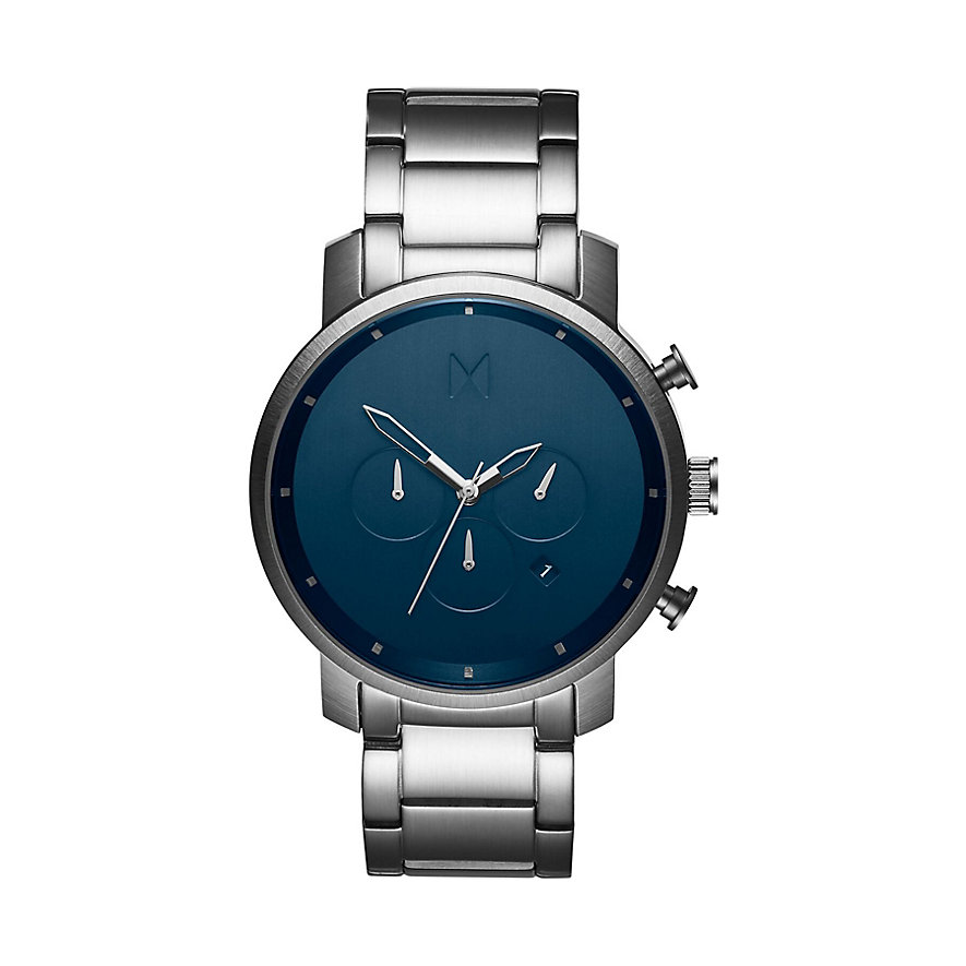 MVMT Herrenuhr Chrono Midnight Silver MC01-SBLU