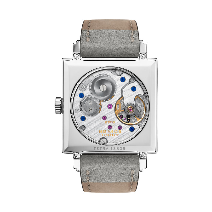 Nomos Glashütte Damenuhr Tetra Goldelse 491
