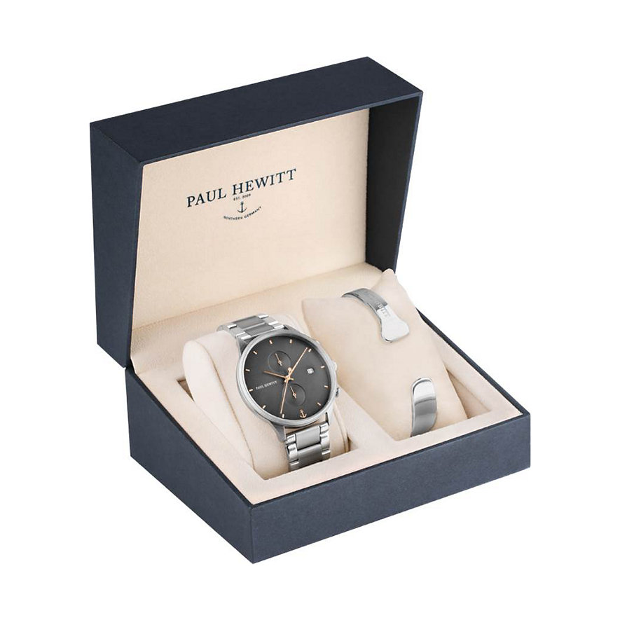 Paul Hewitt Uhren-Set Perfect Match Chrono Line PH-PM-15-L