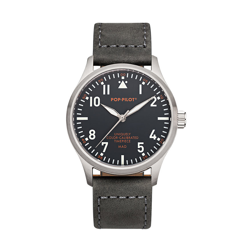 Pop-Pilot Herrenuhr MAD Leather