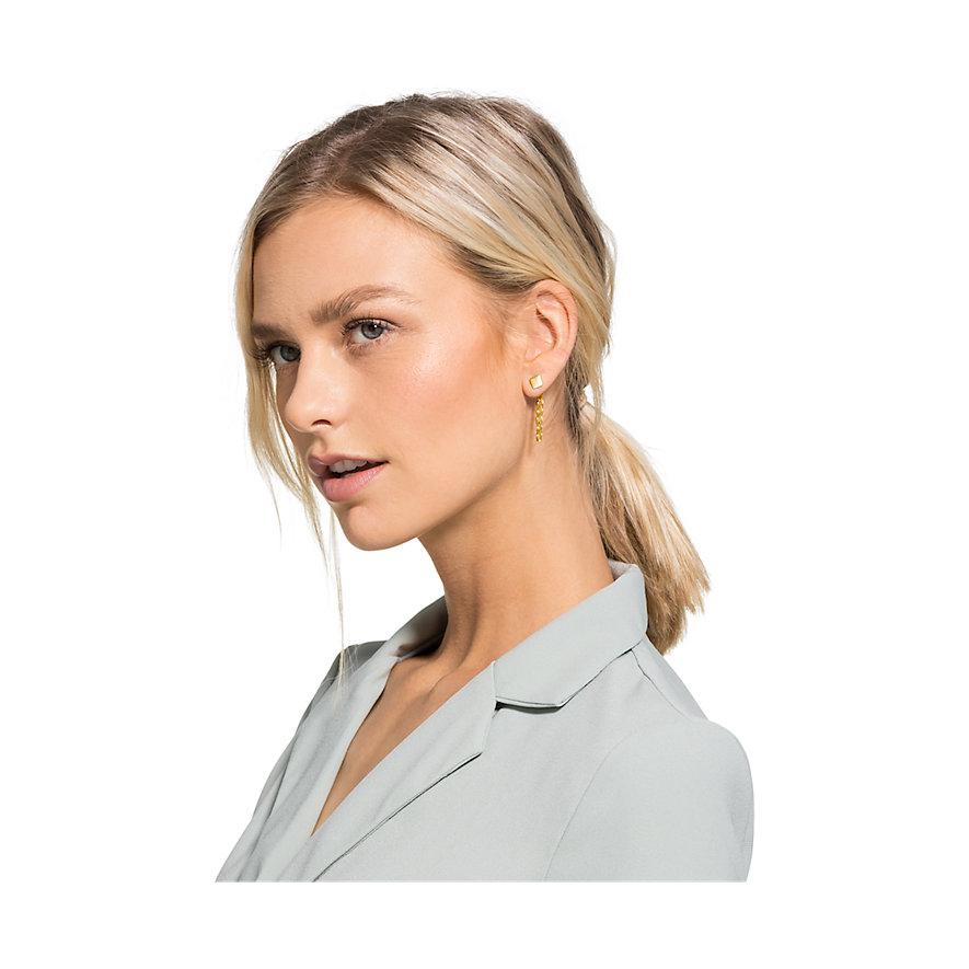 QOOQI Boucles d'oreilles à fermoir à poussette 88008553