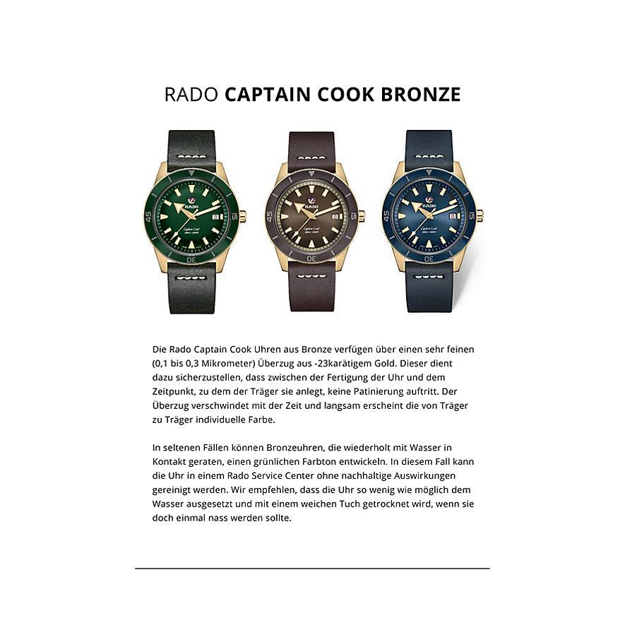 Rado Herrenuhr Captain Cook Bronze R32504205