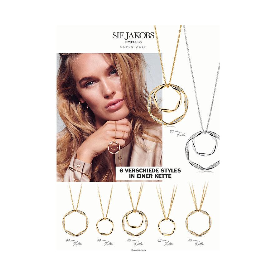 Sif Jakobs Jewellery Kette Cetara Due Grande SJ-P1078-CZ-90
