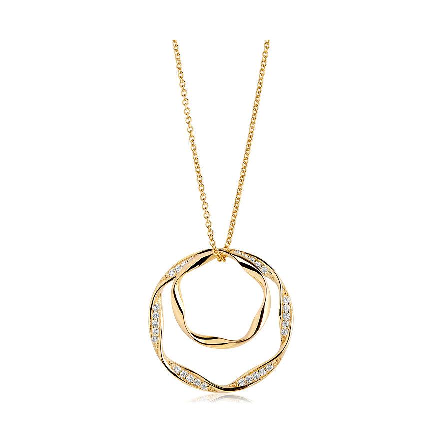 Sif Jakobs Jewellery Kette Cetara Due Grande SJ-P1078-CZ-YG-90
