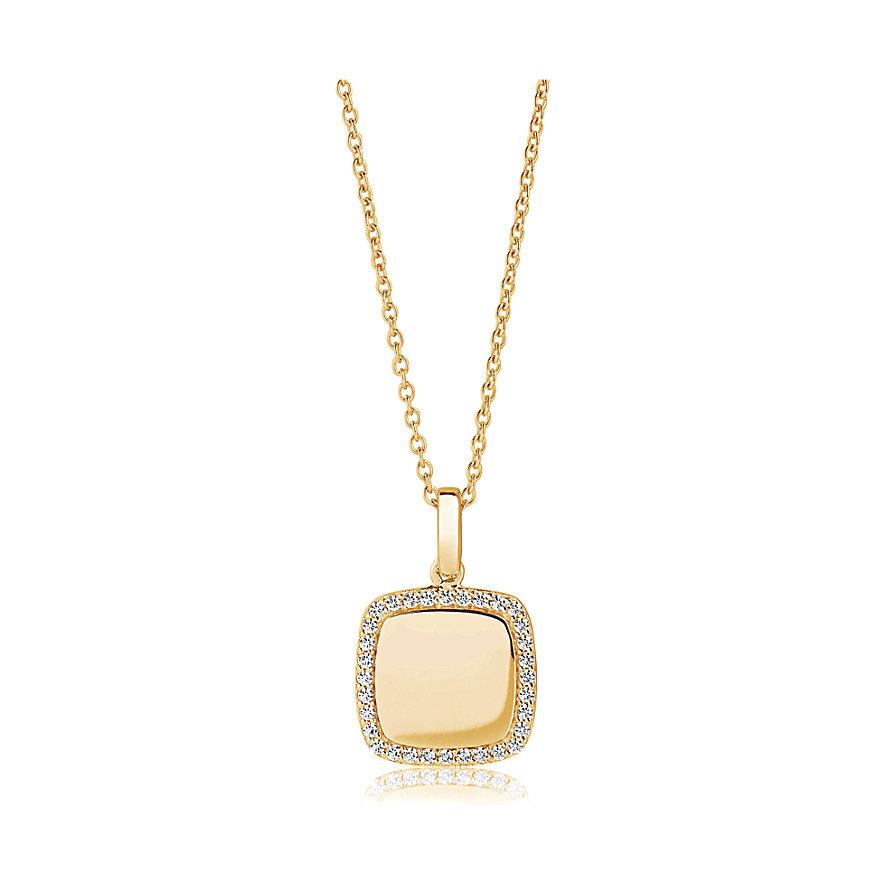 Sif Jakobs Jewellery Kette Follina Quadrato SJ-P3774-CZ(YG)/45