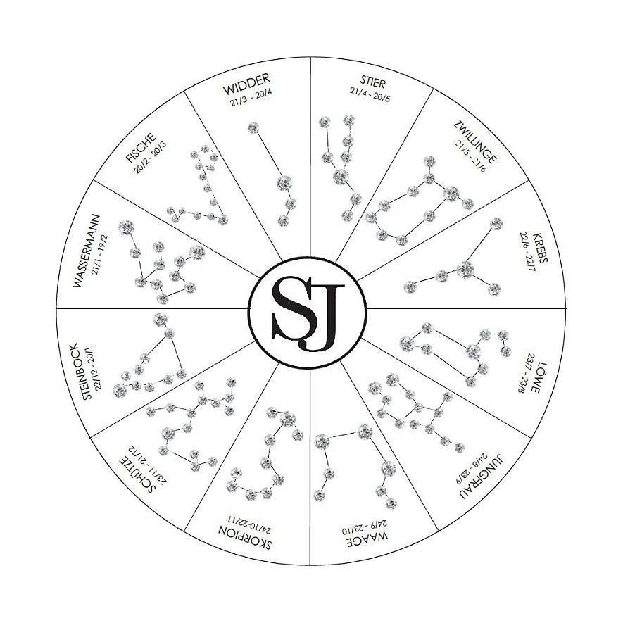 Sif Jakobs Jewellery Kette Sternzeichen Waage SJ-P1060-CZ-YG-45