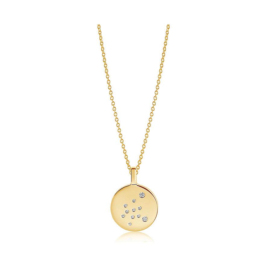 Sif Jakobs Jewellery Kette Sternzeichen Wassermann SJ-P1064-CZ-YG-45