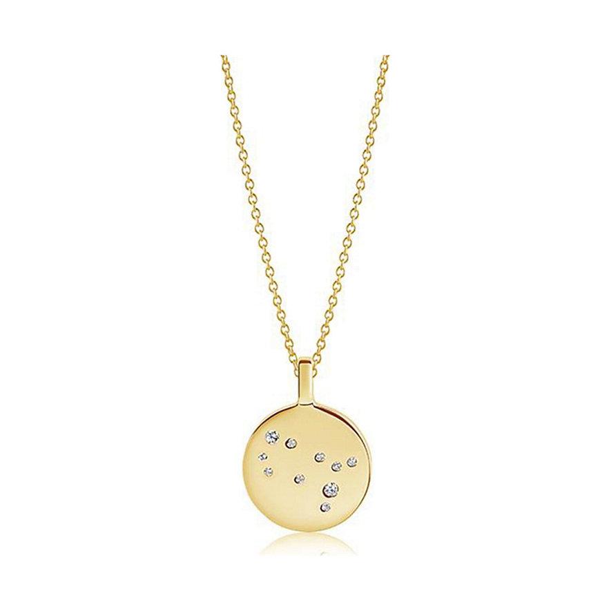 Sif Jakobs Jewellery Kette Sternzeichen Zwillinge SJ-P1055-CZ-YG