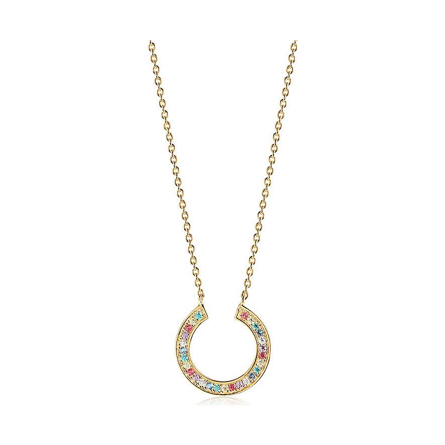 Sif Jakobs Jewellery Kette Valiano Circolo SJ-C1051-XCZ(YG)