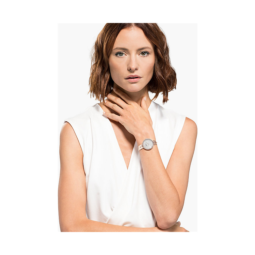 Swarovski Damenuhr Cosmopolitan Uhr, Metallarmband, 5517803