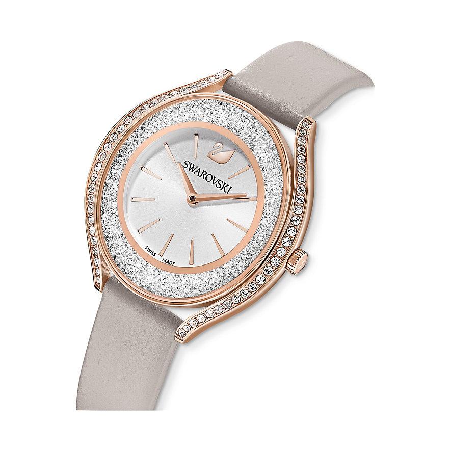 Swarovski Damenuhr Crystalline Aura Uhr, Lederarmband, 5519450