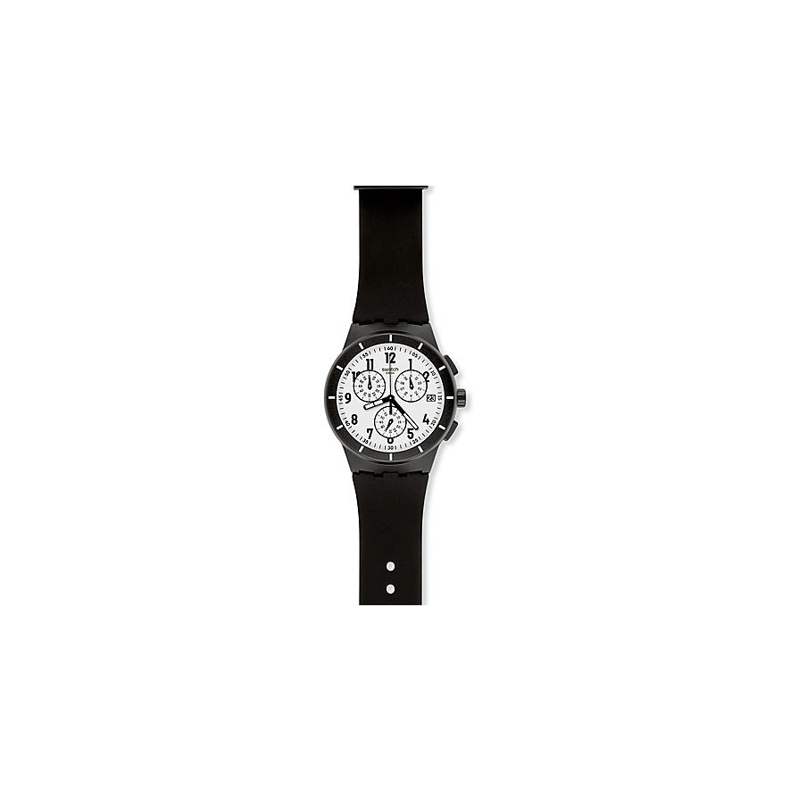 Swatch Chronograph Twice Again Black SUSB401
