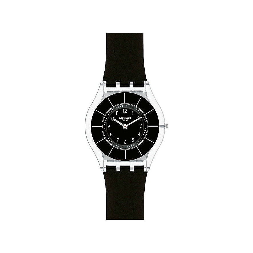 Swatch Damenuhr Black Classiness SFK361