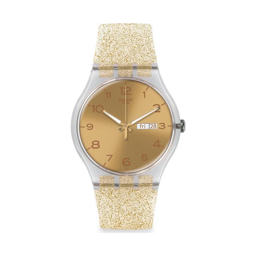 Swatch Damenuhr Golden Sparkle SUOK704