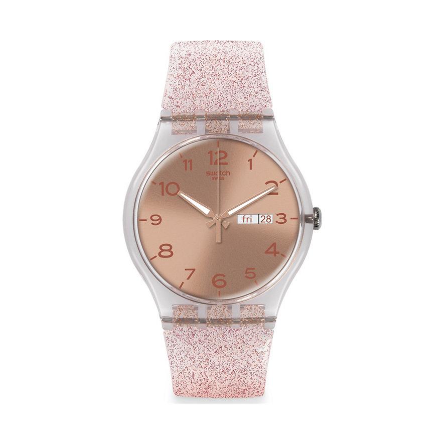Swatch Damenuhr Pink Glistar SUOK703