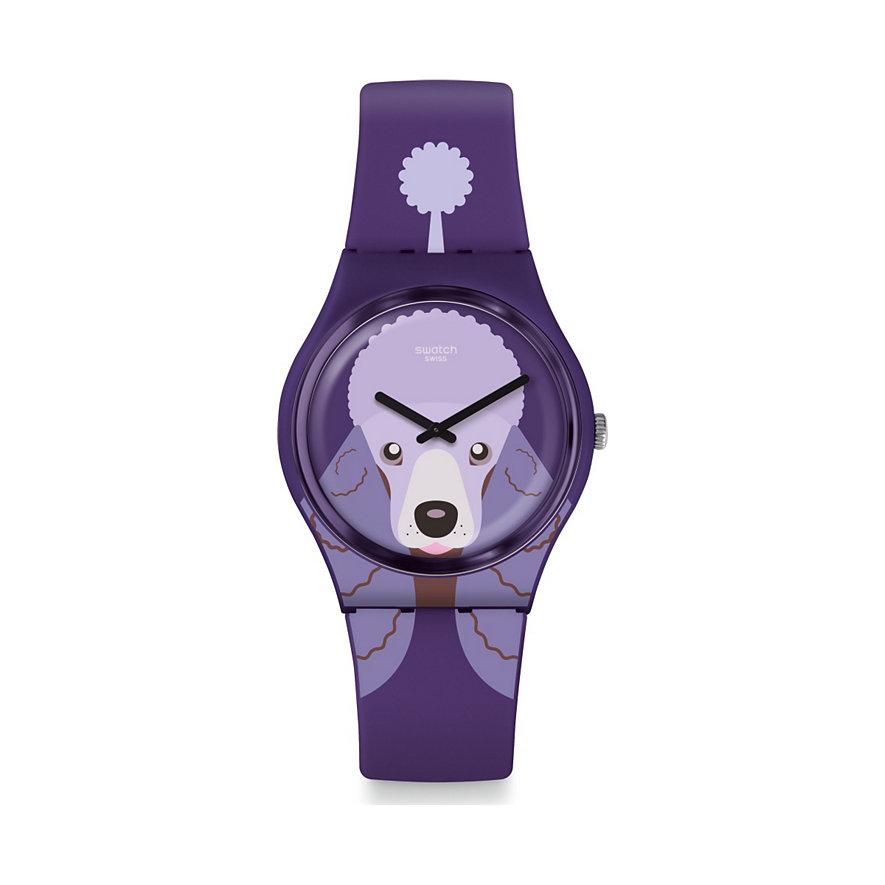 Swatch Damenuhr Purple Poodle GV133