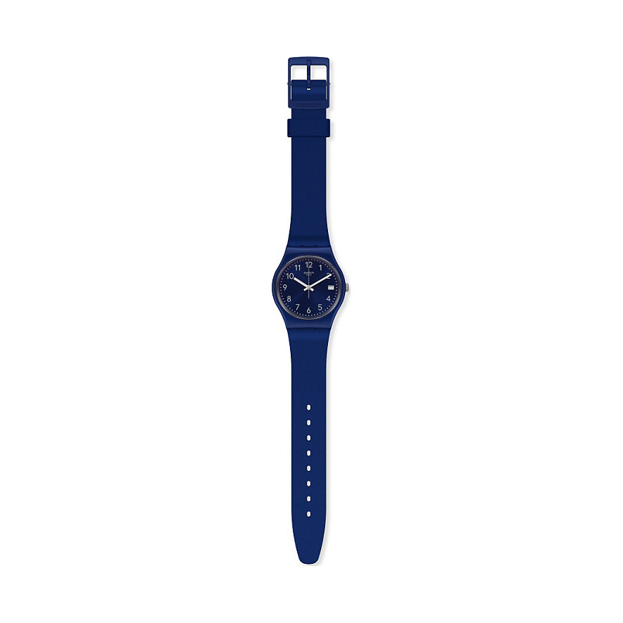 Swatch Damenuhr Silver In Blue GN416