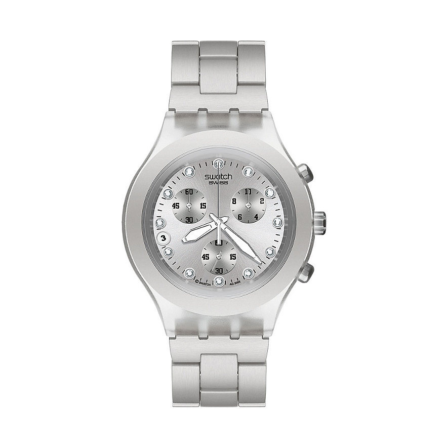 SWATCH Herrenchronograph Full-Blooded Silver SVCK4038G