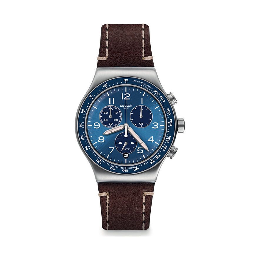 Swatch Herrenuhr Casual Blue YVS466