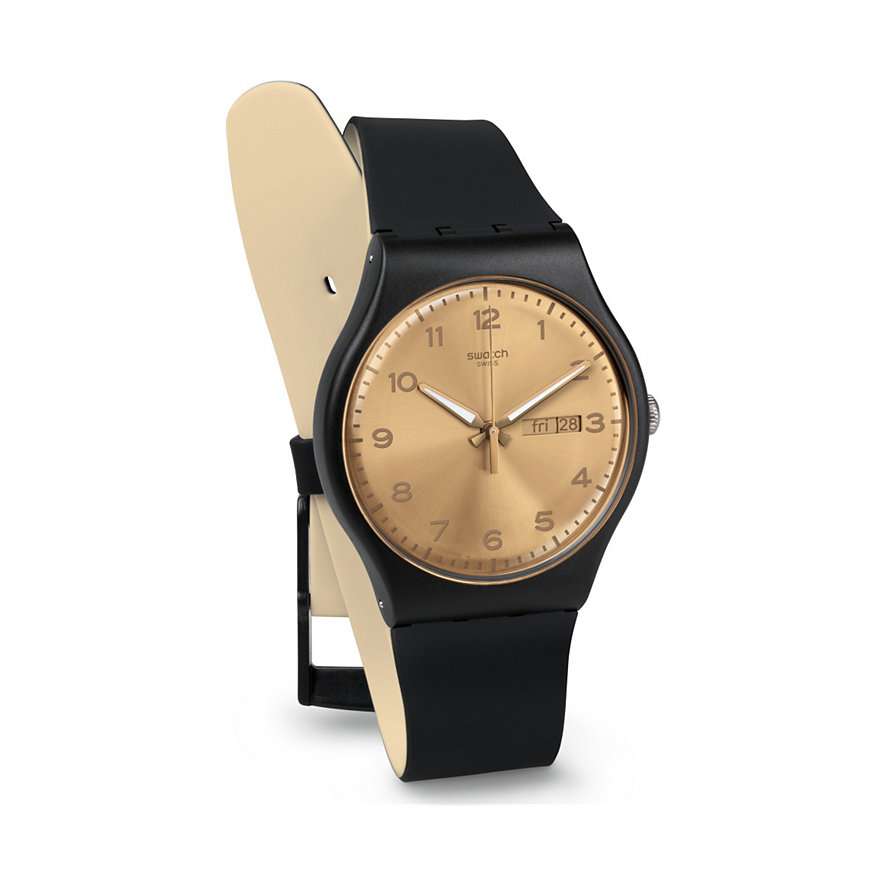 Swatch Herrenuhr Golden Friend SUOB716