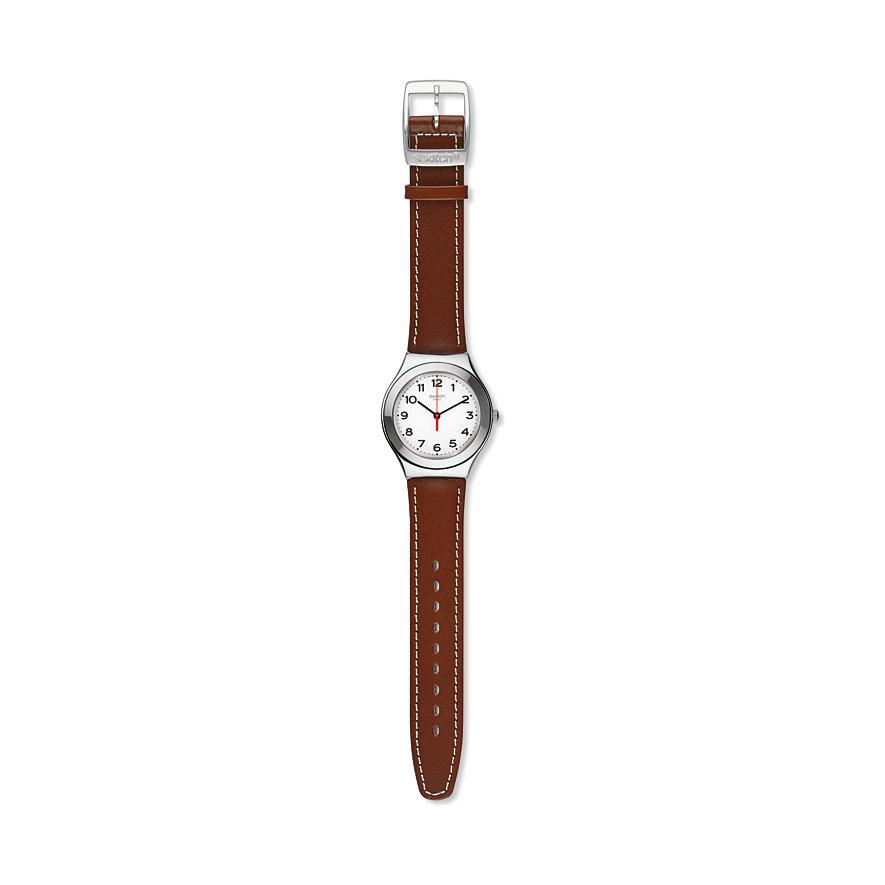 Swatch Herrenuhr Strictly Silver YGS131