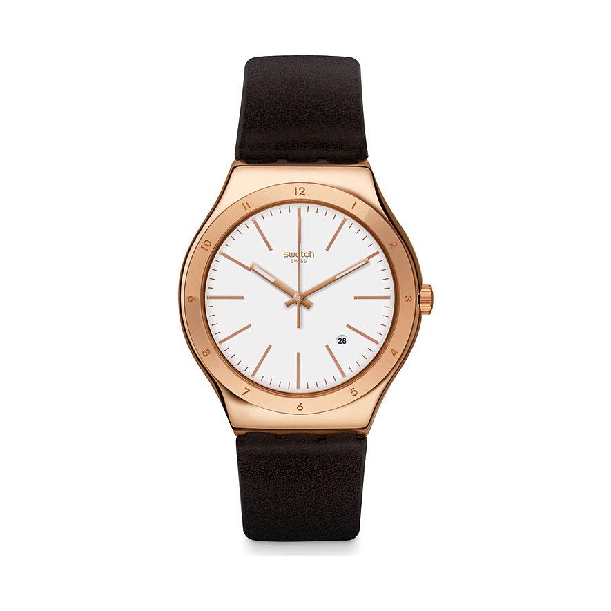 Swatch Herrenuhr Tic-brown YWG405