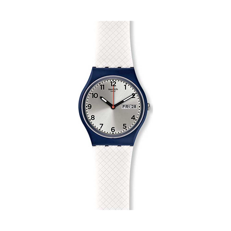 Swatch Herrenuhr White Delight GN720