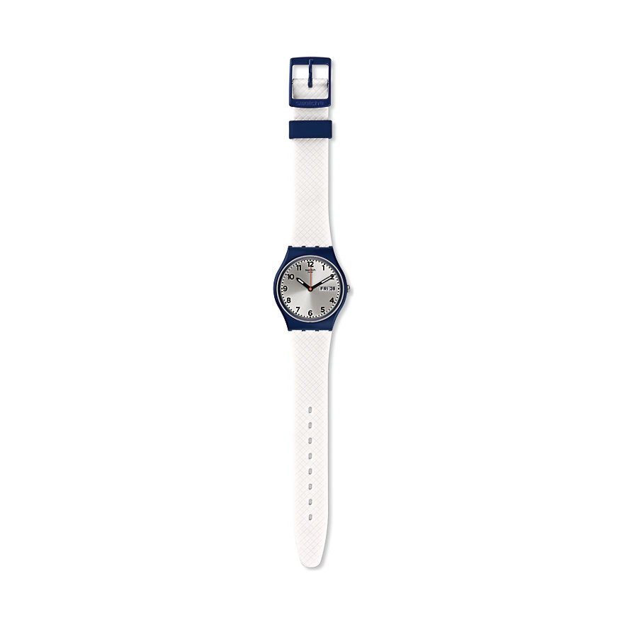 Swatch Herrenuhr White Delight GN720