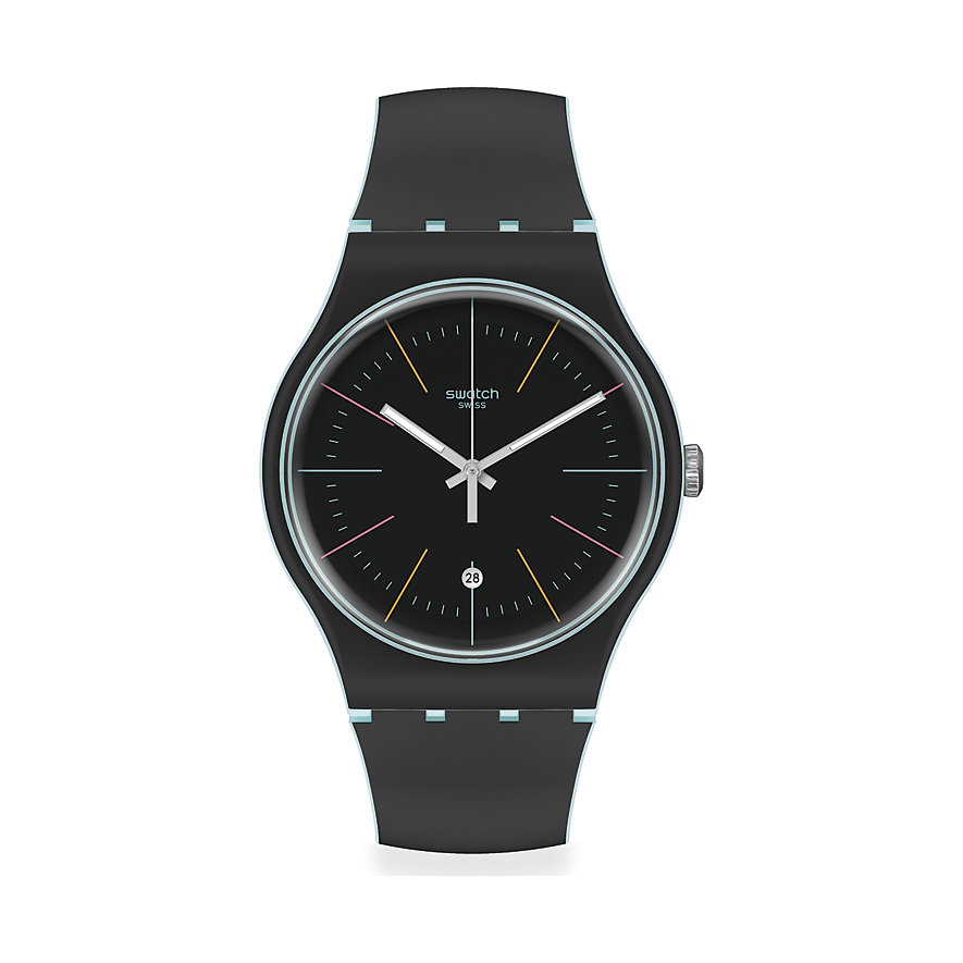 Swatch Unisexuhr Black Layered SUOS402
