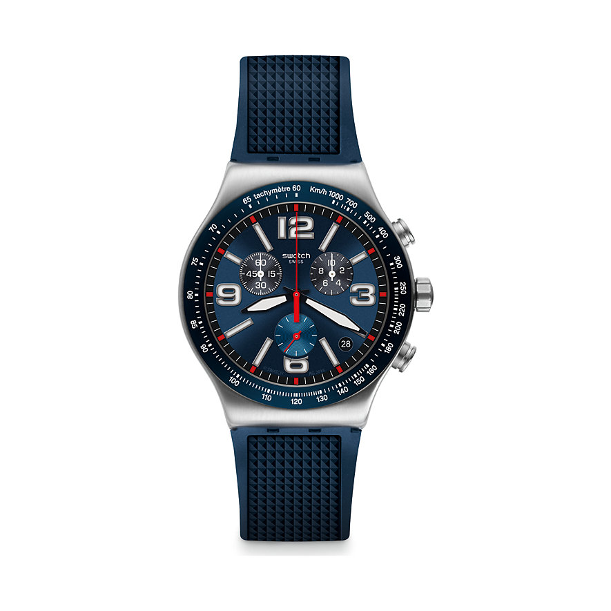 Swatch Unisexuhr Blue Grid YVS454