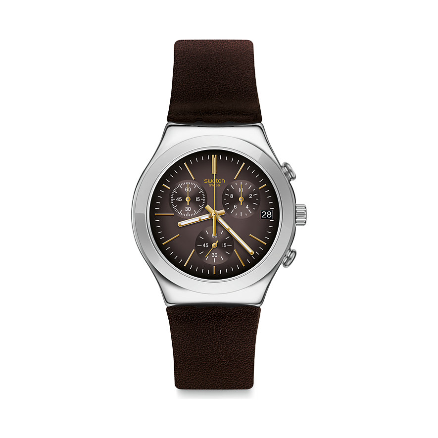 Swatch Unisexuhr Brownflect YCS600